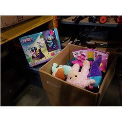 BOX OF KIDS TOYS, POKEMON DOLL, FINGERLINGS