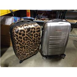 2 SMALL HARD CASE LUGGAGE BAGS