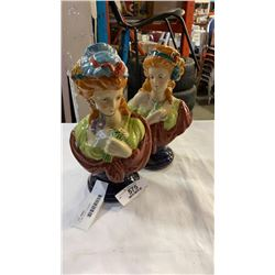2 LADY BUST FIGURES