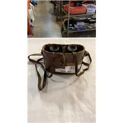 Vintage astro stereo prism binoculars with case