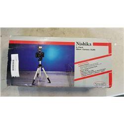 NISHIKA MF-3 5 PIECE 35MM CAMERA OUTFIT IN BOX
