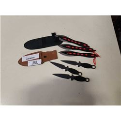 6 NEW THROWING KNIVES