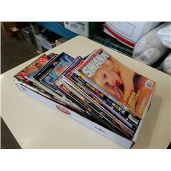 TRAY OF ADULT MAGAZINES