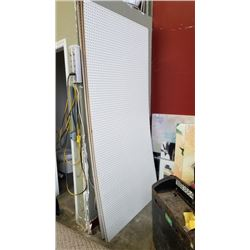 6 sheets of 4 foot by 8 foot peg board