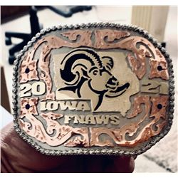 Iowa FNAWS Custom Knives and Belt Buckle: