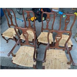 6 antique chairs (As-is)