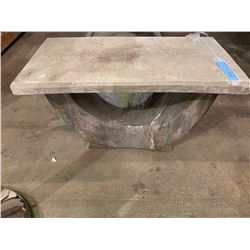 Small concrete table