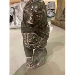 Inuit soap stone Eskimo carving by Gilbert Daniels from N.W.T.