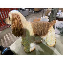 Poliresin dog statue