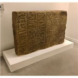 Large egyptian hieroglyphics with a white base approx. 6ft x 4ft. upcoming Show  Under Wraps