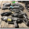 A lot of prop handguns from the sci-fi show