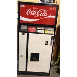 "1970s Coke Vending Machine - 64""H x 32""W x 24"" D"