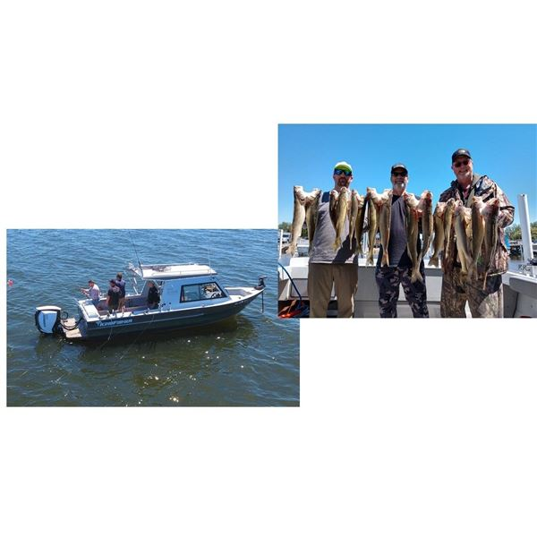 6 Hour Walleye Fishing Charter for 4 people