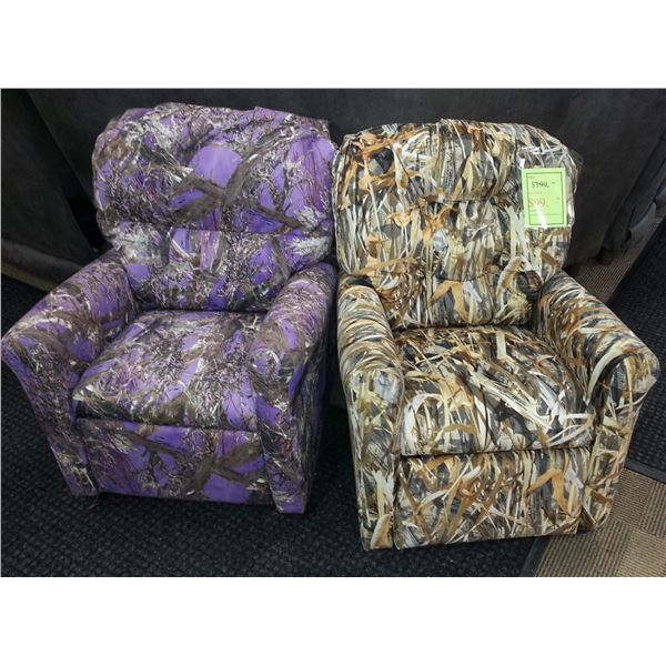 Two Children's Recliners – colors to be determined by availability