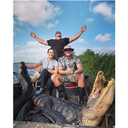 Louisiana - Trophy Alligator Hunt for 1 hunter and 1 observer