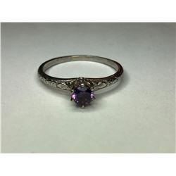 Platinum Gold Gemstone Ring