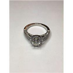 19K White Gold Diamond Engagement Ring