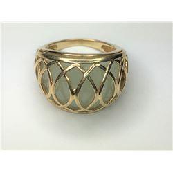 14K Yellow Gold Jade Ring