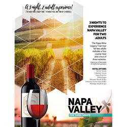 3 Night Napa Valley Experience for 2 adults
