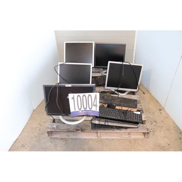 MONITORS, KEYBOARDS, Selling Offsite: Located in Guntersville, AL