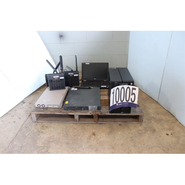 NETWORK HUB, NETWORK SWITCH, ROUTERS, CPUs, LAPTOP, Selling Offsite: Located in Guntersville, AL