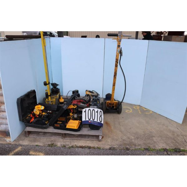 HYDRAULIC JACKS, IMPACT WRENCH, BAND SAW, HAMMER DRILL, Selling Offsite: Located in Guntersville, AL