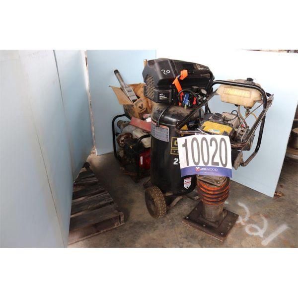 AIR COMPRESSOR, TRASH PUMP, TRANSFER PUMPS, TAMPER, Selling Offsite: Located in Guntersville, AL