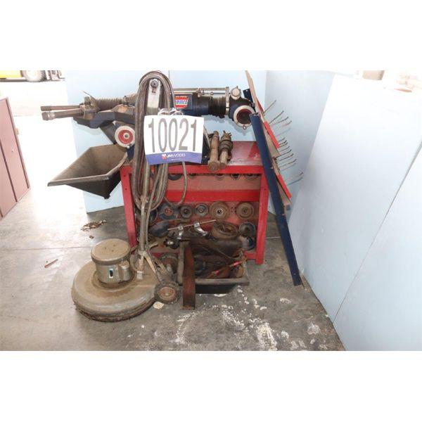 FLOOR BUFFING MACHINE, BRAKE LATHE , Selling Offsite: Located in Guntersville, AL