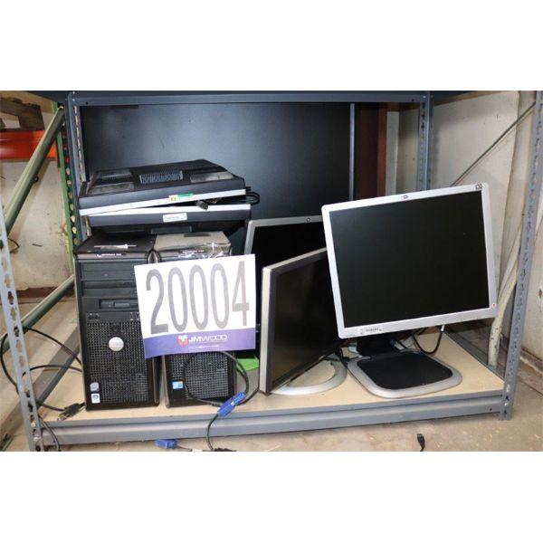 CPUs, MONITORS, Selling Offsite: Located in Tuscumbia, AL