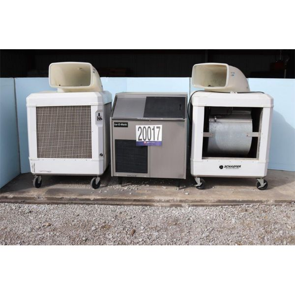EVAPORATIVE COOLING FANS, ICE MACHINE, Selling Offsite: Located in Tuscumbia, AL