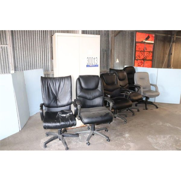 CHAIRS, DESKS, UTILITY CABINET, Selling Offsite: Located in Birmingham, AL