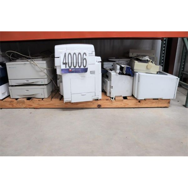 PRINTERS, FAX MACHINES, Selling Offsite: Located in Alexander City, AL