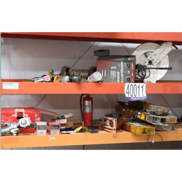 GREASE GUN, CHASSIS PUMP, BENCH GRINDER, RECIPROCATING SAW, FIRE EXTINGUISHER, SPRAY GUN, BATTERY