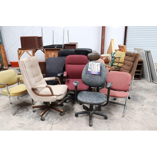 CHAIRS, BLUEPRINT RACK, TABLE, CREDENZA, CABINETS , Selling Offsite: Located in Alexander City, AL