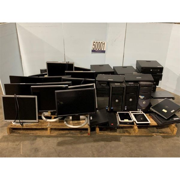 CPUs, MONITORS, LAPTOPS, TABLETS, Selling Offsite: Located in Tuscaloosa, AL