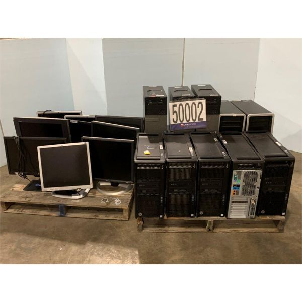 CPUs, MONITORS, Selling Offsite: Located in Tuscaloosa, AL