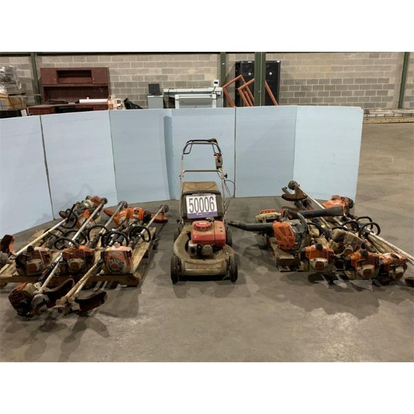 GRASS TRIMMERS, GRASS BLOWERS, LAWN MOWER, Selling Offsite: Located in Tuscaloosa, AL
