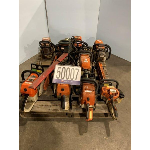 HEDGE TRIMMERS, CHAIN SAWS, Selling Offsite: Located in Tuscaloosa, AL