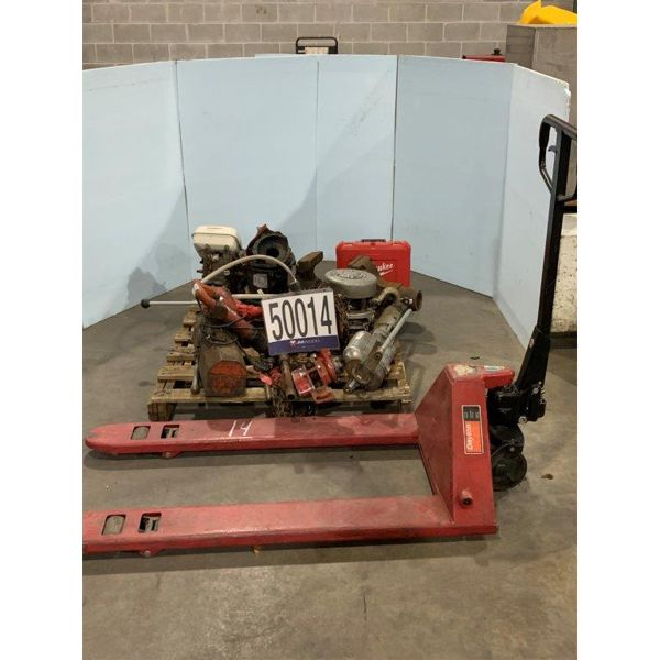 PIPE THREAD DEVICE, VISE, PALLET JACK, DRILL, POST DRIVER, ROTARY HAMMER, CHAIN HOIST