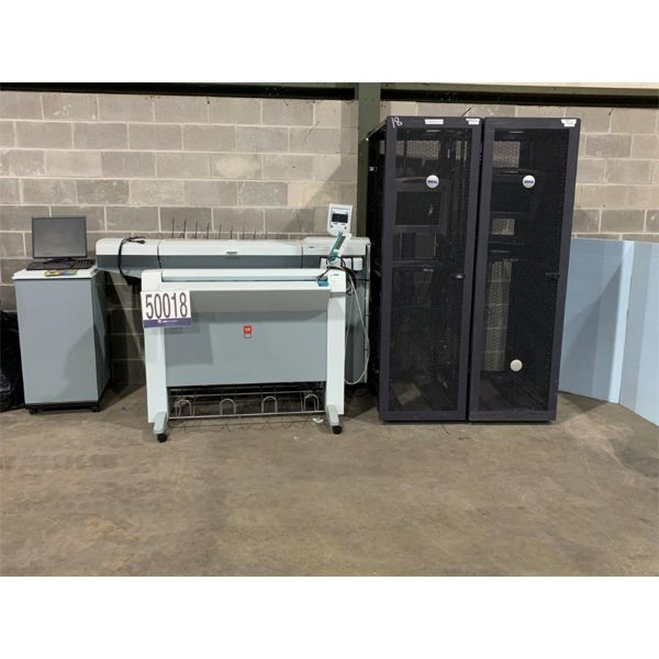 ACOUSTICAL ECLOSURE CABINET, NETWORK SWITCH, RACK MOUNTED CONSOLE, PLOTTER, BLUEPRINT SCANNER