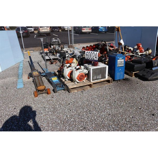 PAVEMENT BREAKERS, DRILL, PNEUMATIC SANDER, HOSE REELS, OIL DRAIN ASSEMBLY, GRASS TRIMMERS, GRASS BL