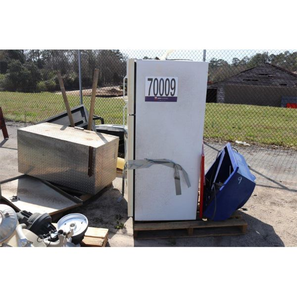 LIGHT FIXTURES, FILE CABINET, REFRIGERATOR, PARTS WASHER, TOOLBOX, Selling Offsite: Located in Troy,