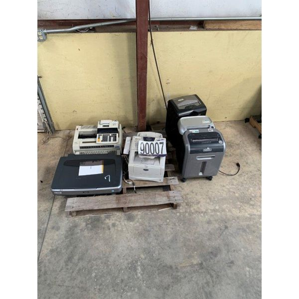 SHREDDERS, FAX MACHINE, TYPEWRITER, SCANNER, Selling Offsite: Located in Mobile, AL