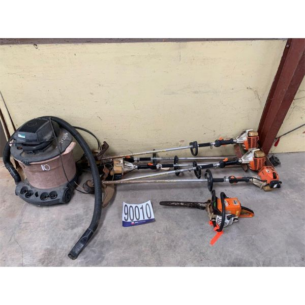 VACUUM, GRASS TRIMMERS, CHAIN SAW, Selling Offsite: Located in Mobile, AL