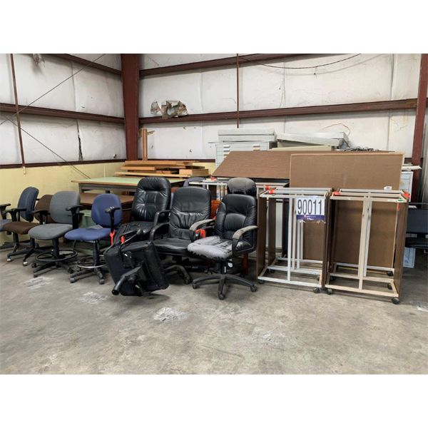 TABLES, CABINETS, DESK, FILE CABINETS, CHAIRS, Selling Offsite: Located in Mobile, AL