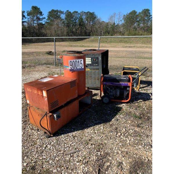 PRESSURE WASHER, GENERATORS, Selling Offsite: Located in Mobile, AL