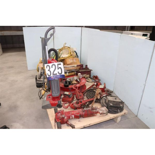 MAG DRILL, SAW, VACUUM, IMPACT WRENCH, HYDRAULIC CYLINDER LIFT, HOSE REEL, HOISTS, JOURNAL JACK...