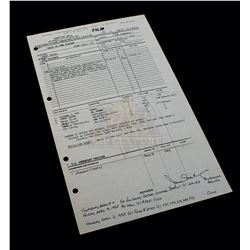 Back to the Future - Original Production Call Sheet (100th Day of Filming) - A218