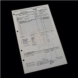 Back to the Future - Original Production Call Sheet (33rd Day of Filming) - A179
