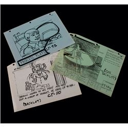 Back to the Future - Set of Production Used Storyboard Prints - A174